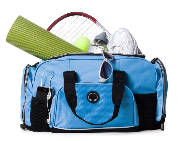 packed gym bag